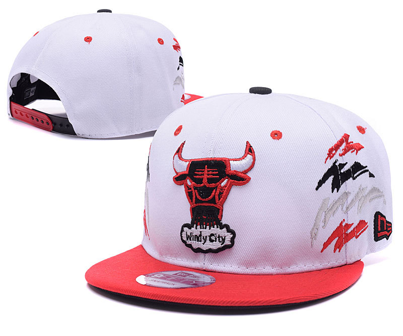 NBA Chicago Bulls Chapeau Blanc Rouge