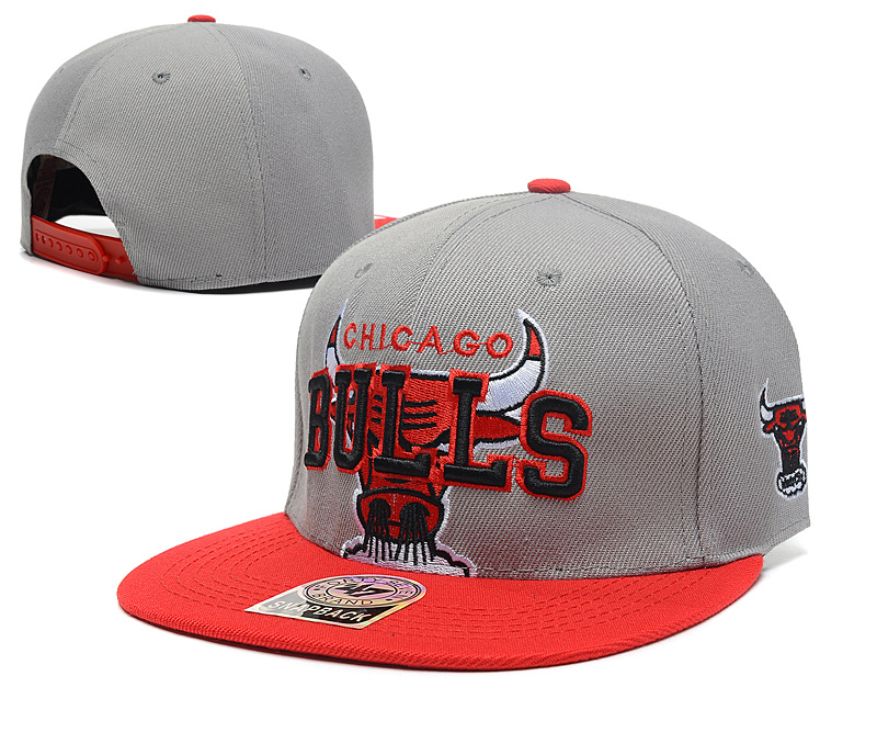 NBA Chicago Bulls Chapeau Gris 2015