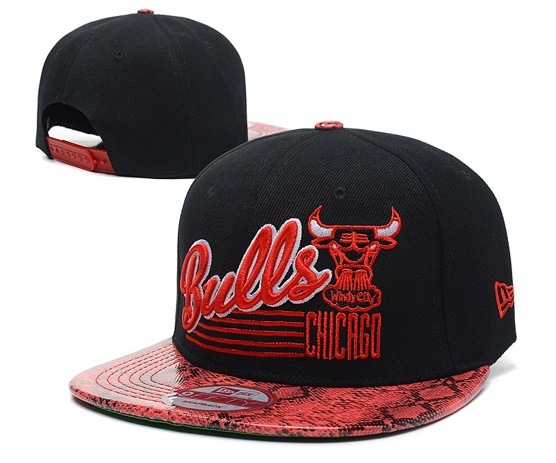 NBA Chicago Bulls Chapeau Noir Rouge 2006