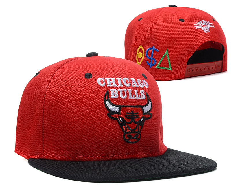 NBA Chicago Bulls Chapeau Rouge Noir 2015