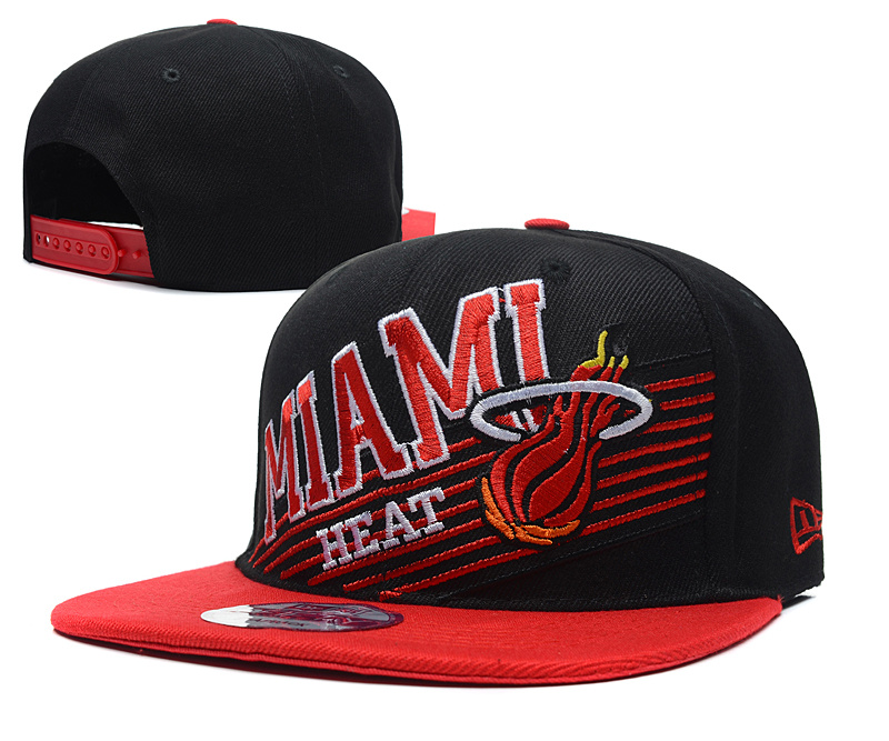 NBA Miami Heat Chapeau Noir Rouge 2015