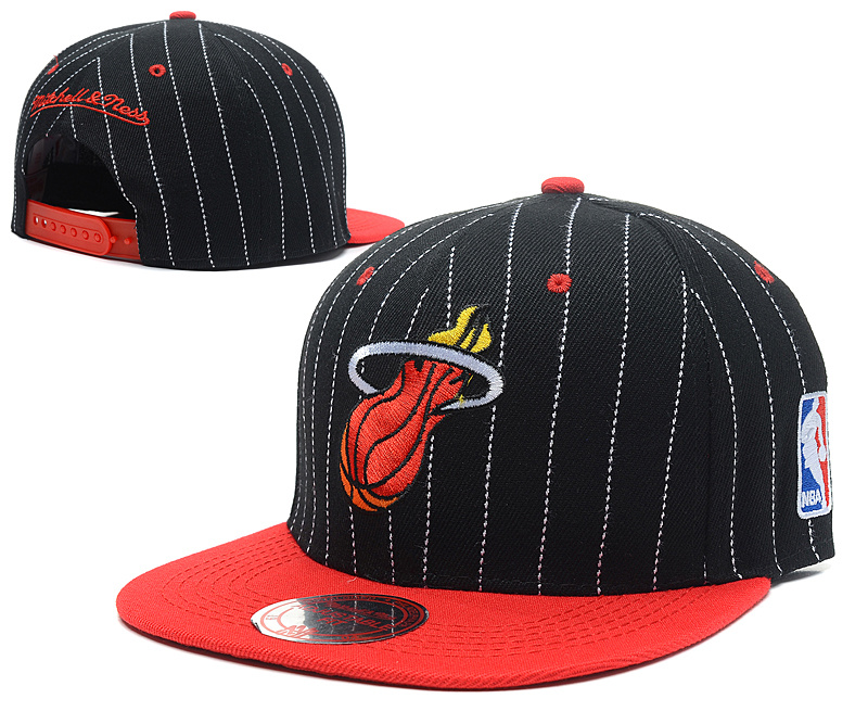 NBA Miami Heat Chapeau Noir Rouge 2016