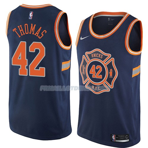 Maillot New York Knicks Lance Thomas Ciudad 2018 Bleu Bleu