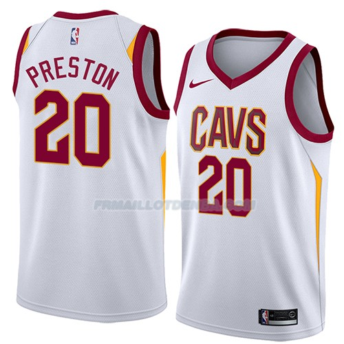 Maillot Cleveland Cavaliers Billy Preston Association 2018 Blanc
