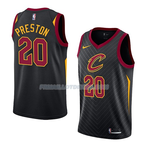 Maillot Cleveland Cavaliers Billy Preston Statement 2018 Noir