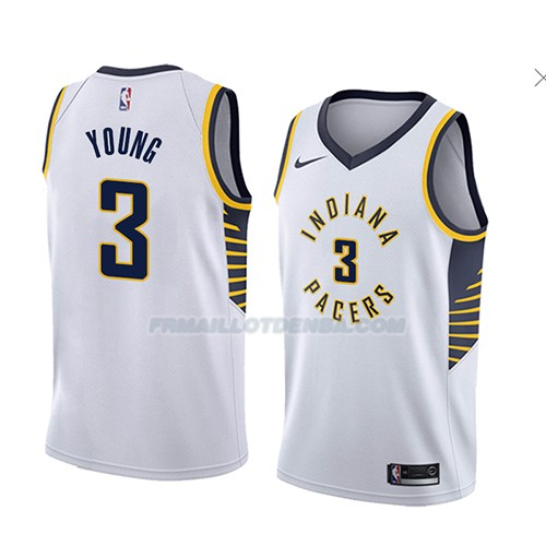 Maillot Indiana Pacers Joe Young Association 2018 Blanc