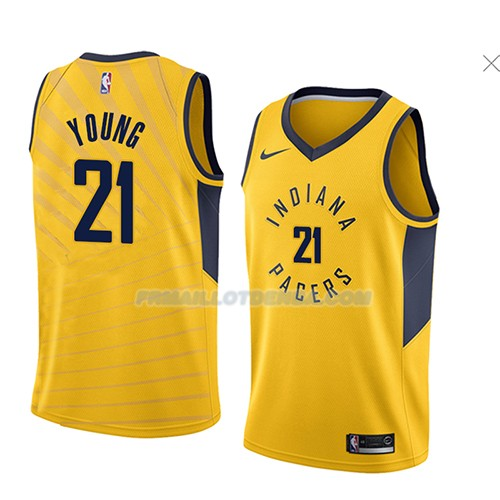 Maillot Indiana Pacers Thaddeus Young Statement 2018 Jaune