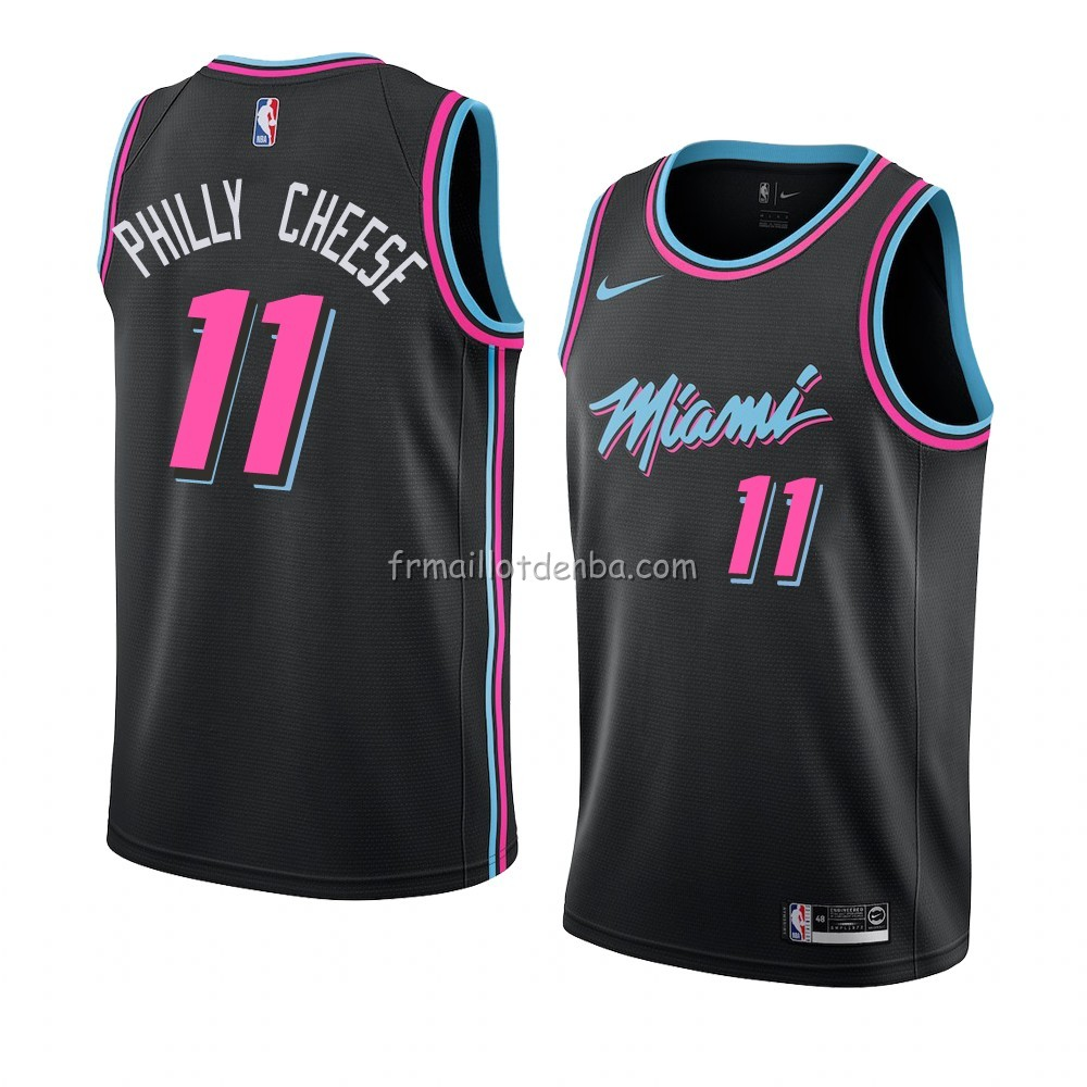 Maillot Miami Heat Philly Cheese Ville 2018-19 Noir