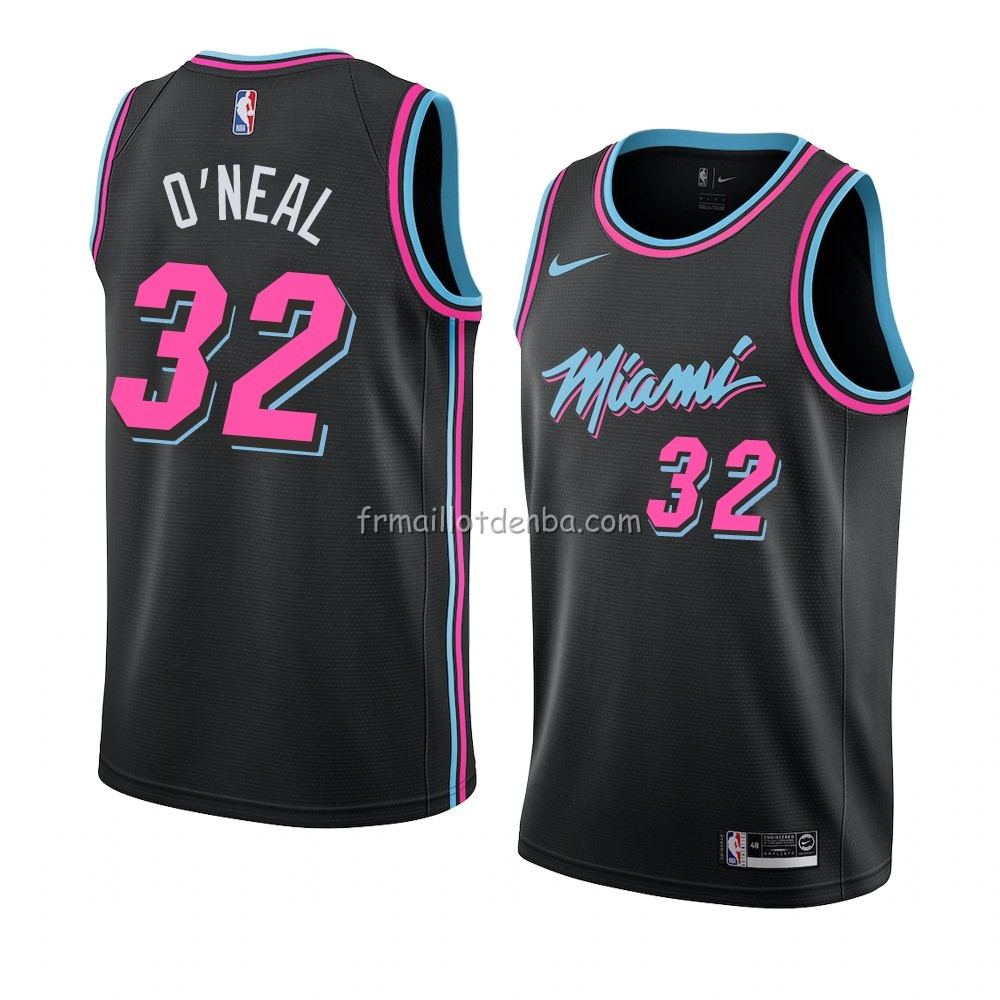 Maillot Miami Heat Shaquille O'neal Ville 2018-19 Noir