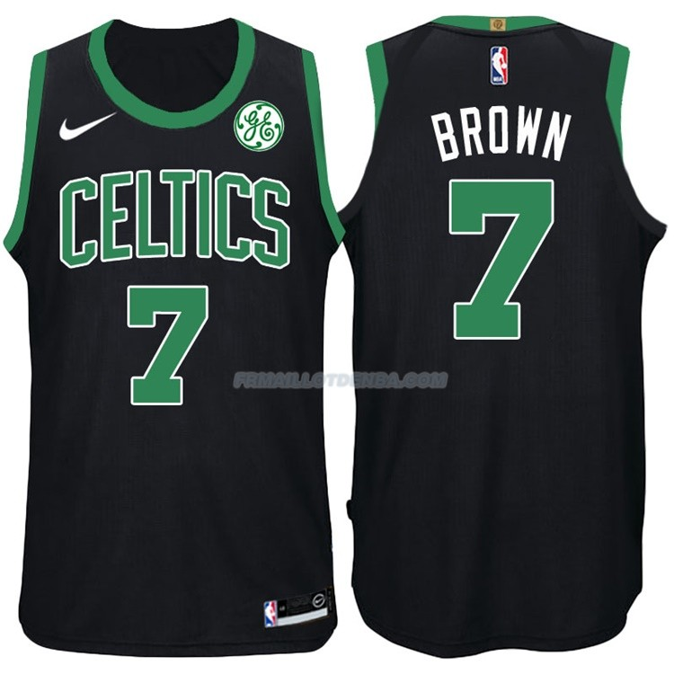 Maillot Authentique Boston Celtics Brown 2017-18 7 Noir