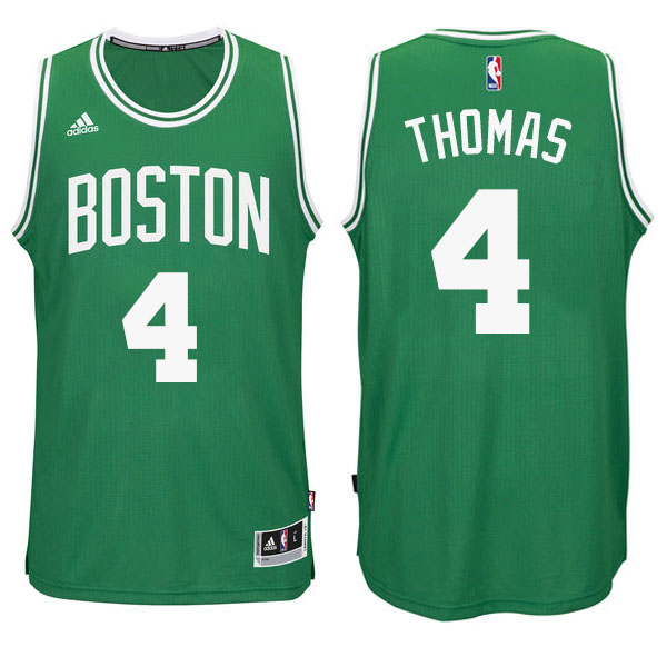 Maillot Basket Basket Authentique Boston Celtics Thomas 4 Vert