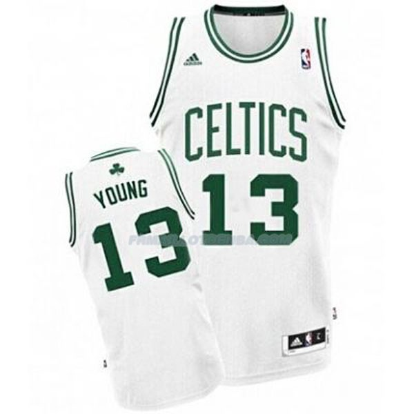 Maillot Basket Boston Celtics Young 13 Blanco