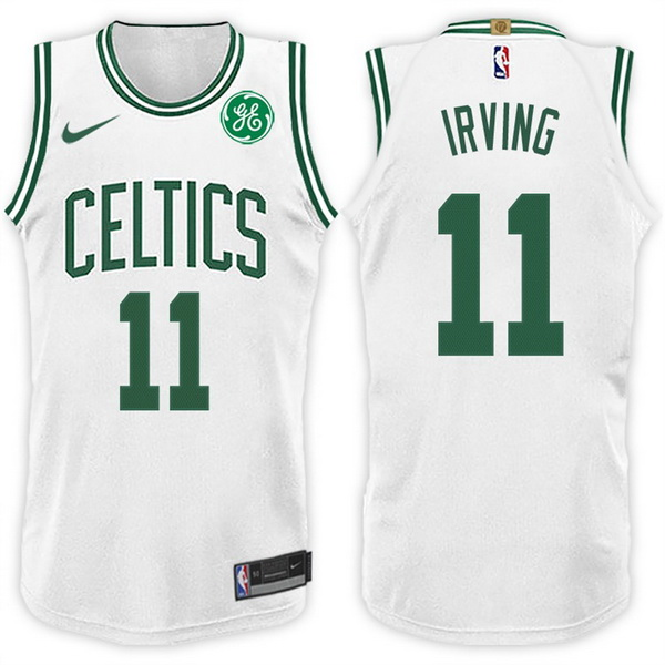Nike Maillot Basket Boston Celtics Irving 11 Blanc