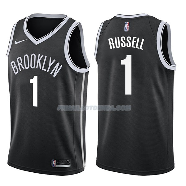 Maillot Brooklyn Nets D'angelo Russell Icon 2017-18 1 Negro