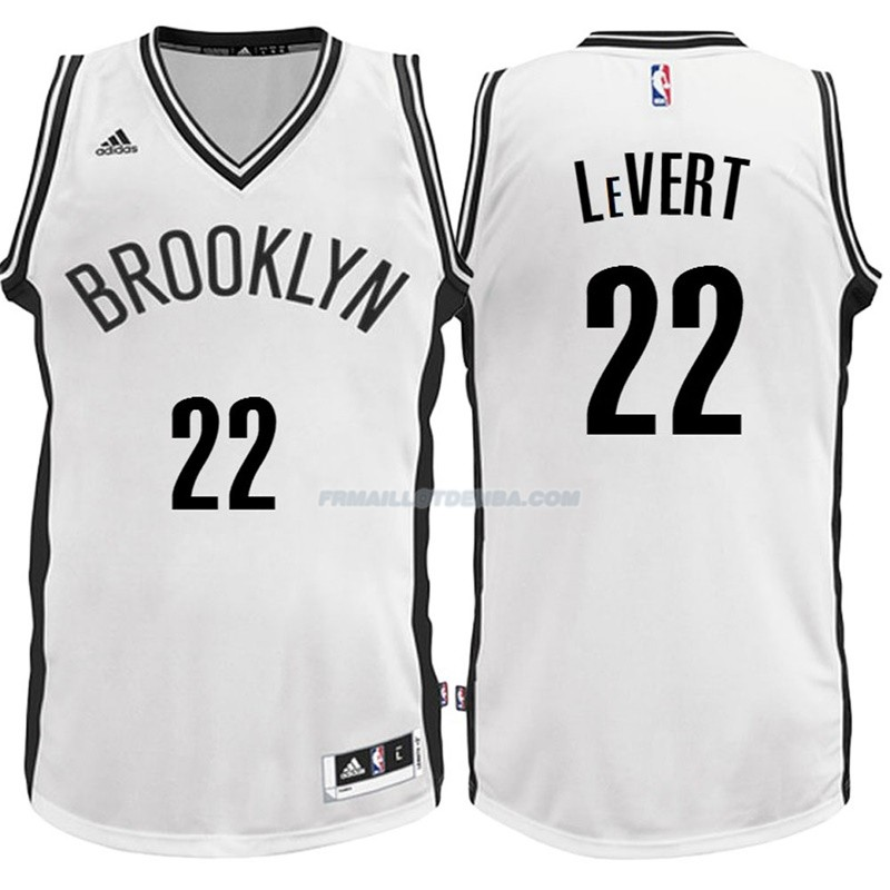 Maillot Basket Brooklyn Nets LeVert 22 Blanco