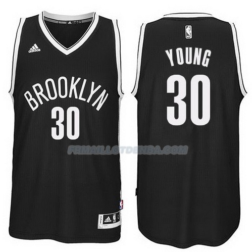 Maillot Basket Brooklyn Nets Young 30 Negro