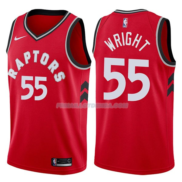 Maillot Toronto Raptors Delon Wright Icon 2017-18 55 Rojo