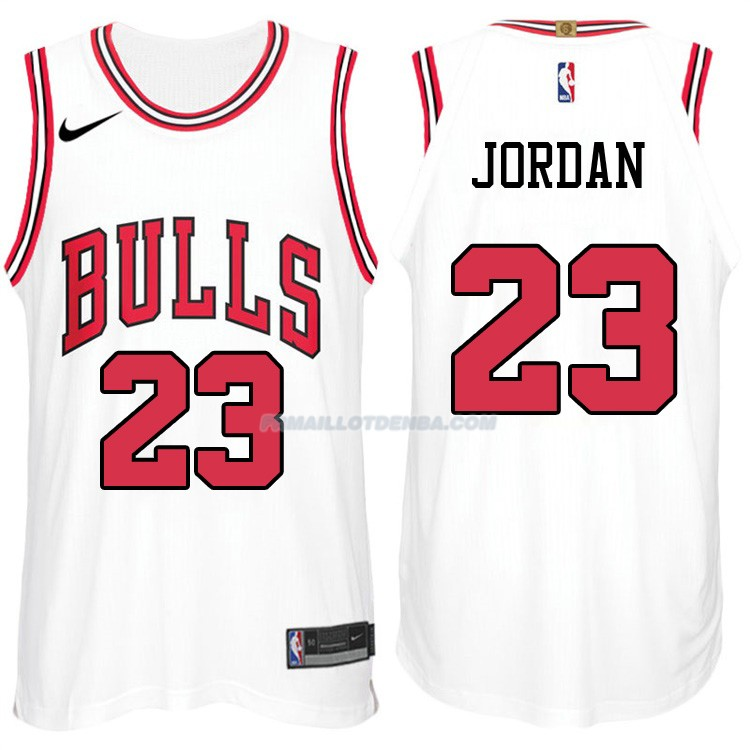 Maillot Authentique Chicago Bulls Jordan 2017-18 23 Blanc