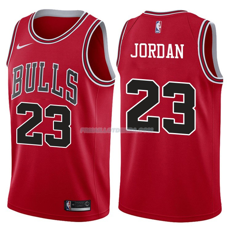 Maillot Authentique Chicago Bulls Jordan 2017-18 23 Rouge