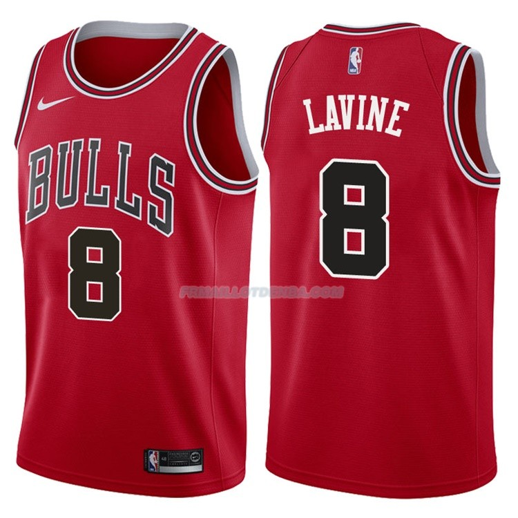 Maillot Authentique Chicago Bulls Lavine 2017-18 8 Rouge