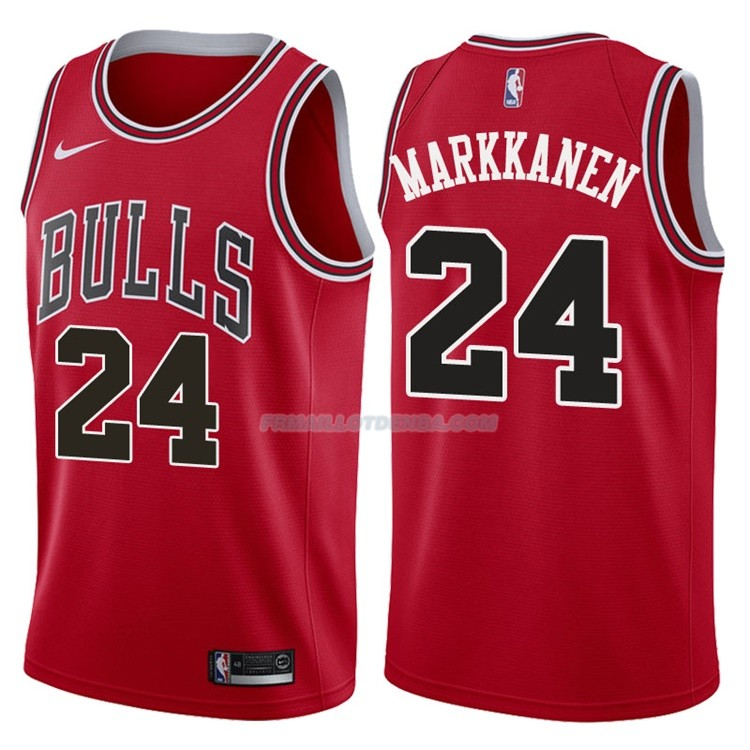 Maillot Authentique Chicago Bulls Markkanen 2017-18 24 Rouge