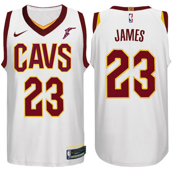 Nike Maillot Basket Cleveland Cavaliers James 23 Blanc