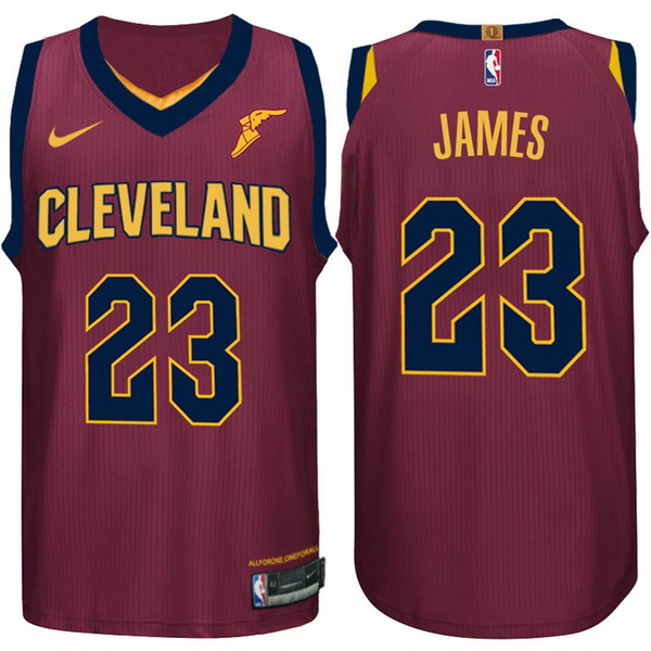Nike Maillot Basket Cleveland Cavaliers James 23 Rouge