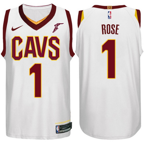 Nike Maillot Basket Cleveland Cavaliers Rose 1 Blanc