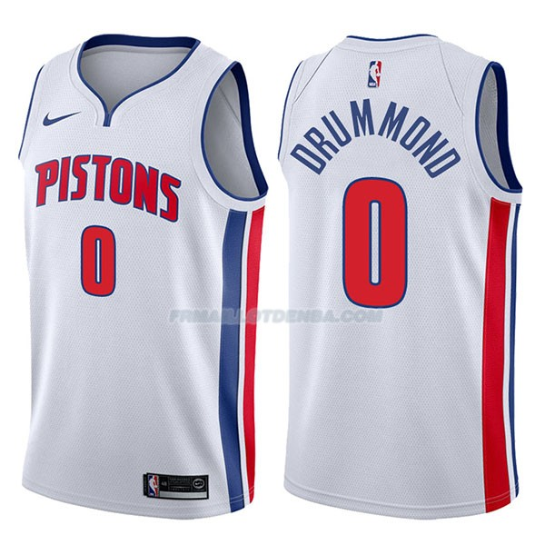 Maillot Detroit Pistons Andre Drummond Association 2017-18 0 Blancoo