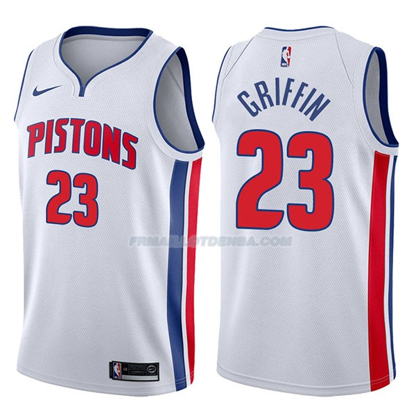 Maillot Detroit Pistons Blake Griffin Association 2017-18 23 Blancoo