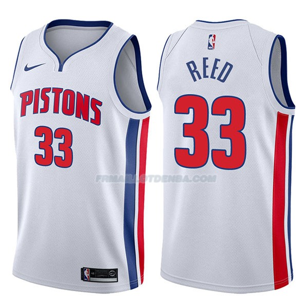 Maillot Detroit Pistons Willie Reed Association 2017-18 33 Blancoo