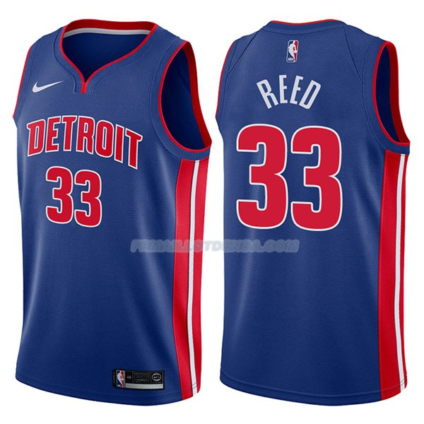 Maillot Detroit Pistons Willie Reed Icon 2017-18 33 Azul