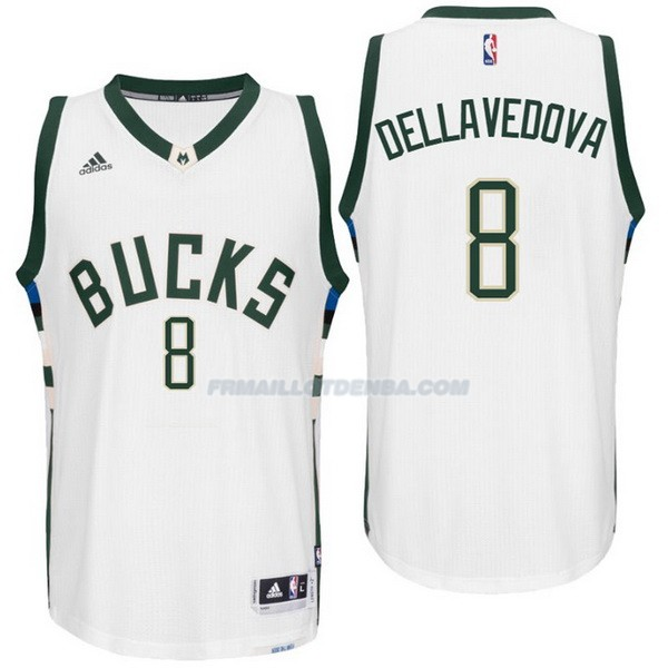 Maillot Basket Milwaukee Bucks Dellavedova 3 Blanco