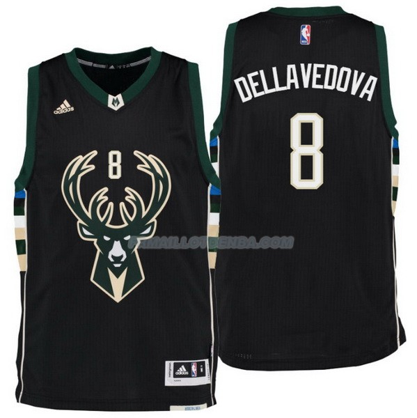 Maillot Basket Milwaukee Bucks Dellavedova 8 Negro