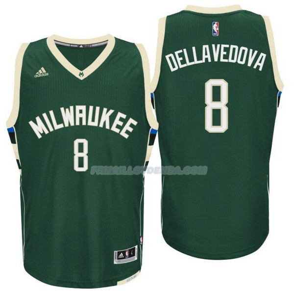 Maillot Basket Milwaukee Bucks Dellavedova 8 Verde