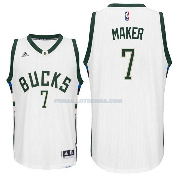 Maillot Basket Milwaukee Bucks Maker 7 Blanco