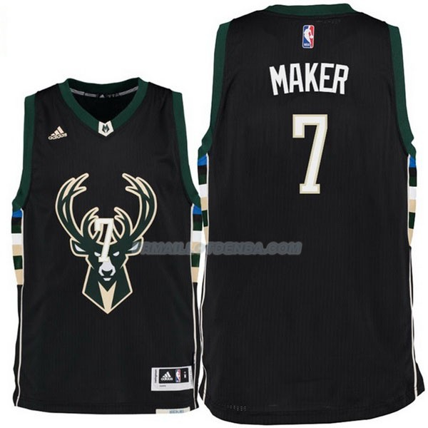 Maillot Basket Milwaukee Bucks Maker 7 Negro