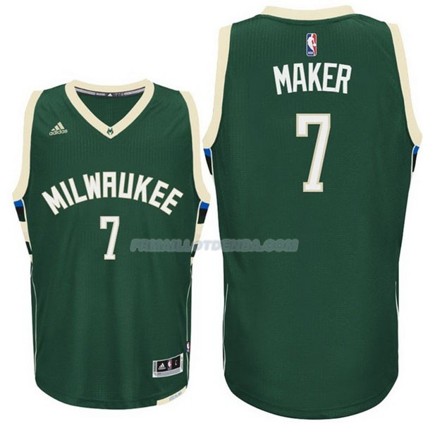 Maillot Basket Milwaukee Bucks Maker 7 Verde