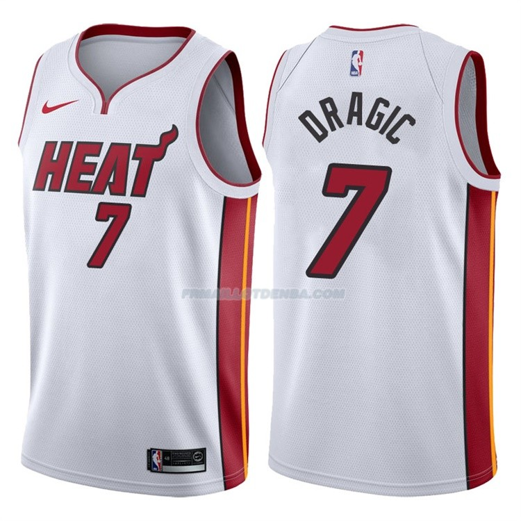 Maillot Basket Authentique Miami Heat Dragic 2017-18 7 Blanc