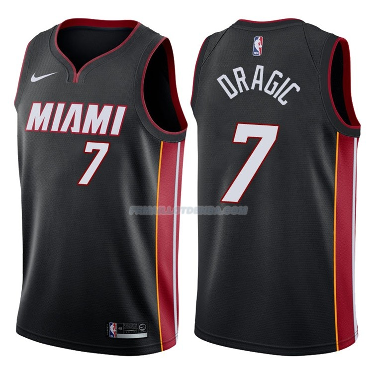 Maillot Basket Authentique Miami Heat Dragic 2017-18 7 Noir