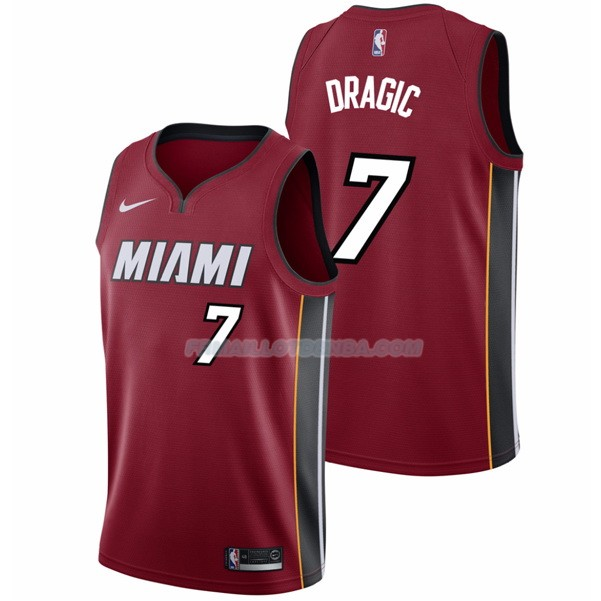 Maillot Basket Authentique Miami Heat Dragic 2017-18 7 Rouge