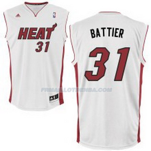 Maillot Basket Miami Heat Battier 31 Blanco