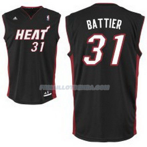 Maillot Basket Miami Heat Battier 31 Negro
