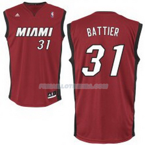 Maillot Basket Miami Heat Battier 31 Rojo
