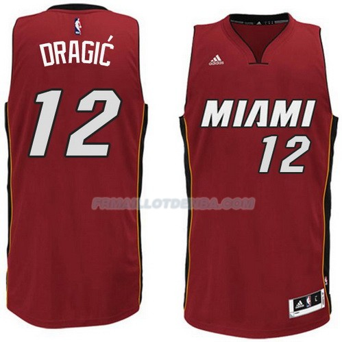 Maillot Basket Miami Heat Dragic 12 Rojo