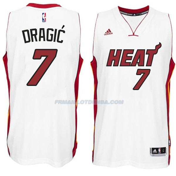 Maillot Basket Miami Heat Dragic 7 Blanco