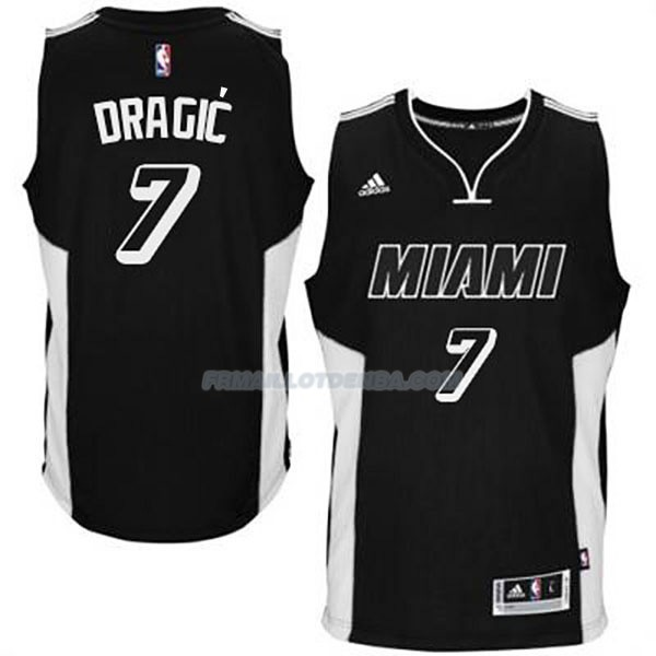 Maillot Basket Miami Heat Dragic Negro 7 Blanco