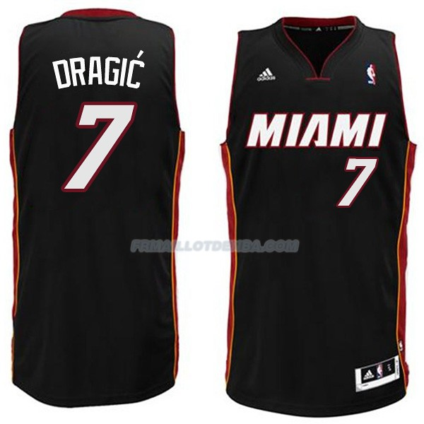 Maillot Basket Miami Heat Dragic 7 Negro