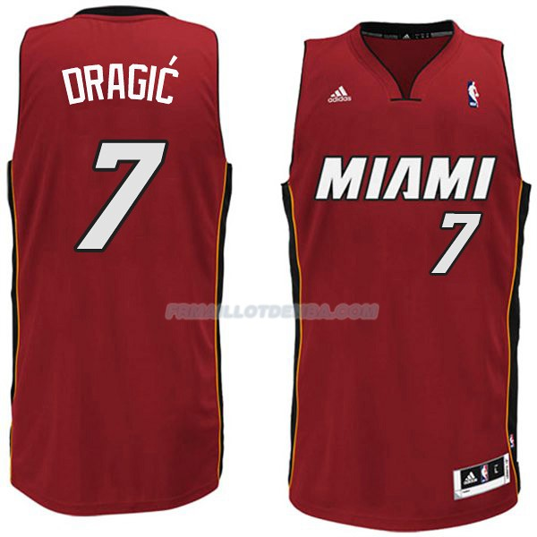Maillot Basket Miami Heat Dragic 7 Rojo