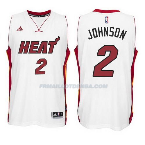 Maillot Basket Miami Heat Johnson 2 Blanco
